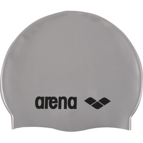 arena Classic Silicone Swimming Cap Juniors silver-black